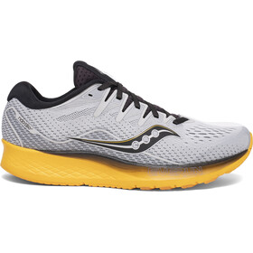 saucony Ride ISO 2 Schoenen Heren, grey/yellow